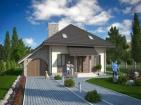 Проект компактного дома с мансардой и гаражом